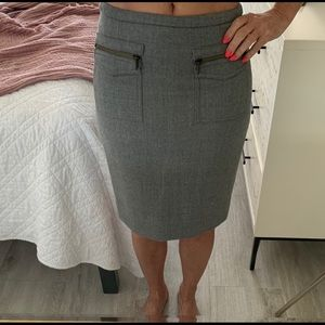 J Crew wool pencil skirt sIze 0P/0 petite grey